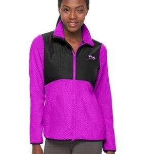FILA SPORT Purple Berry Cloud Fleece Jacket Sz XS